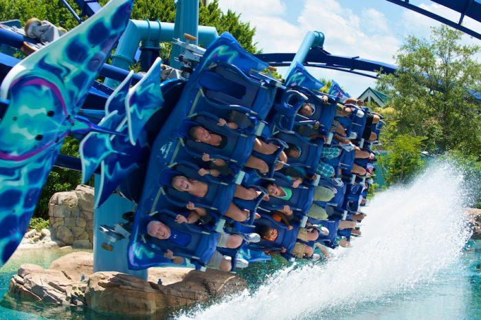 Parque SeaWorld em Orlando: montanha-russa Manta