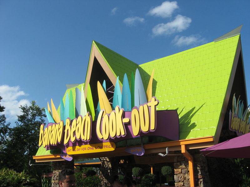 Parque Aquatica em Orlando: Banana Beach Cookout