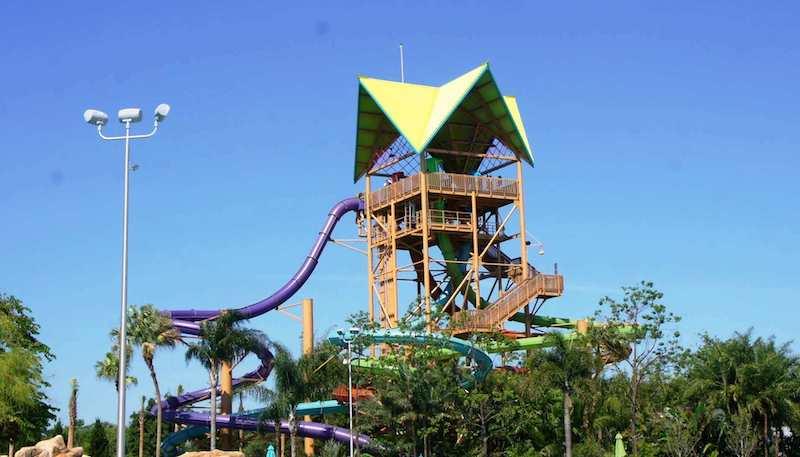 Parque Aquatica em Orlando: Ihu's Breakaway Falls