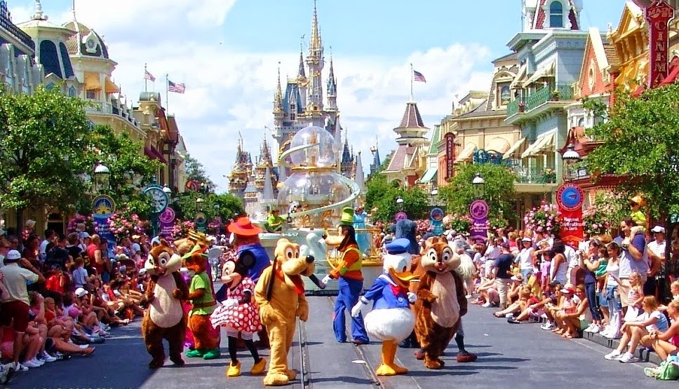 Desfile no parque Magic Kingdom da Disney Orlando
