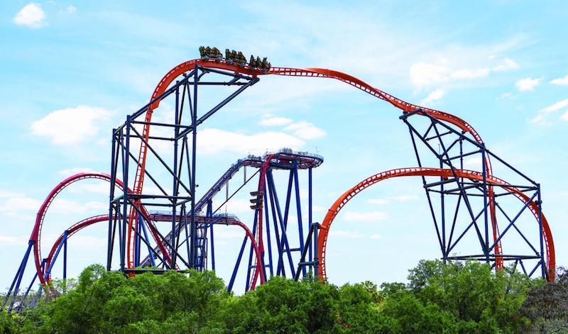 Parque Busch Gardens em Tampa: montanha-russa Tigris