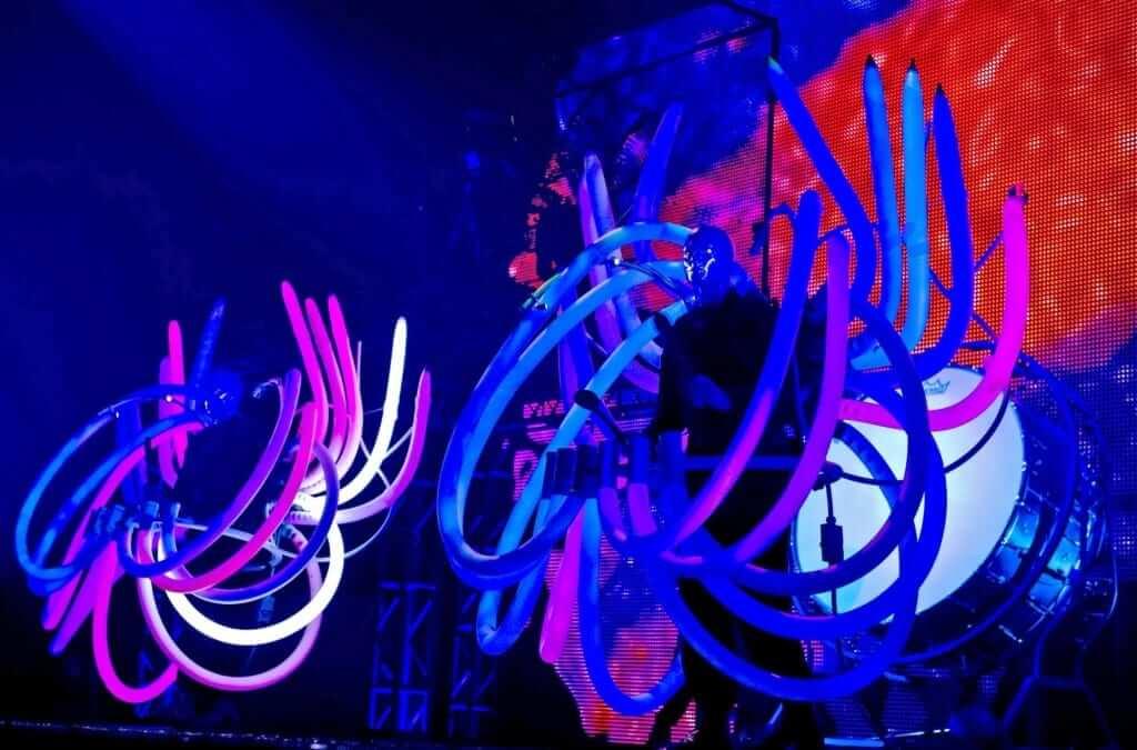 CityWalk Universal em Orlando: show Blue Man Group