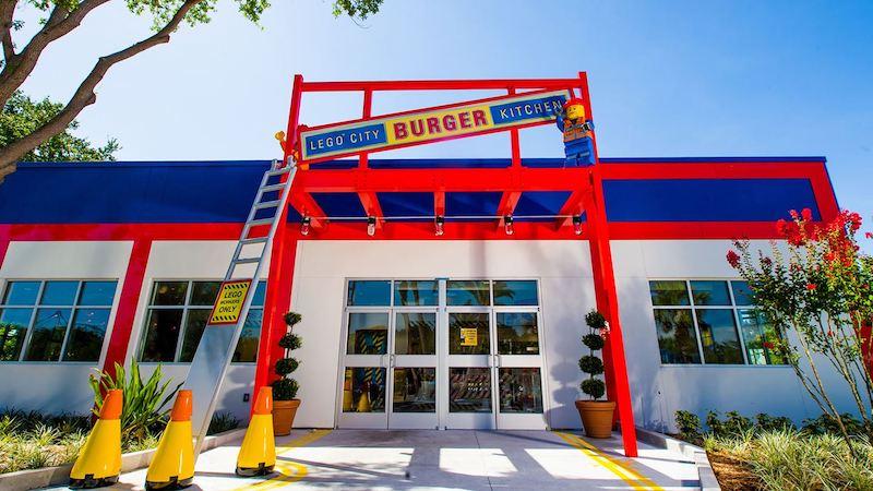 Parque Legoland da LEGO em Orlando: Burger Kitchen