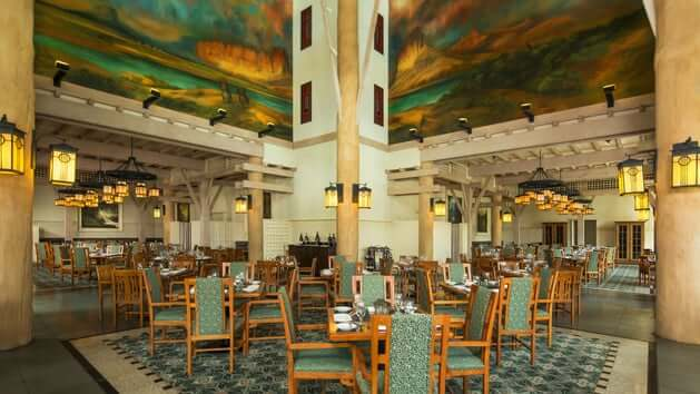 Restaurante Artist Point na Disney em Orlando: interior do restaurante