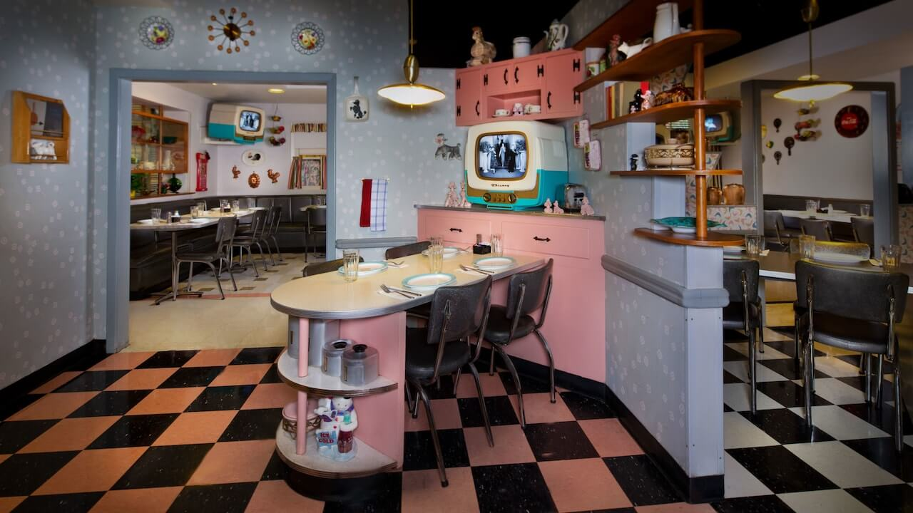 Parque Hollywood Studios da Disney Orlando: 50's Prime Time Café