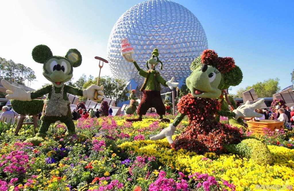 Epcot International Flower & Garden Festival 2019 na Disney Orlando: Mickey e Minnie