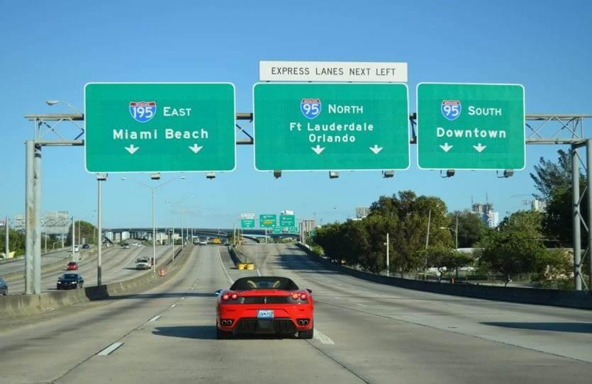 Viagem de carro de Orlando a Miami: Interstate 95