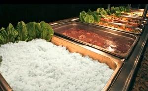 Restaurante brasileiro Camila's em Miami: buffet