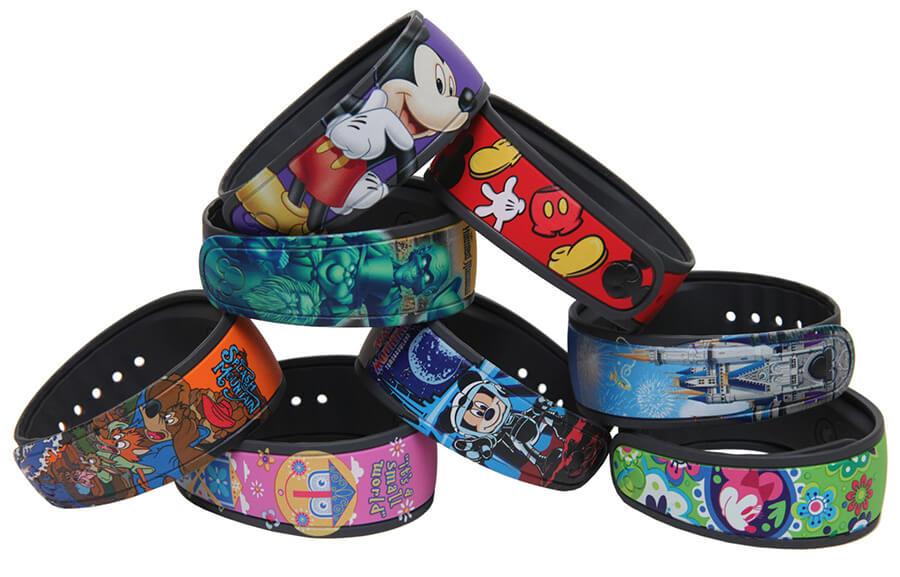Novas cores das pulseiras Magic Band da Disney Orlando: personagens Disney