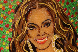 Museu Ripley's Believe It or Not em Orlando: retrato de Beyoncé feito com balas