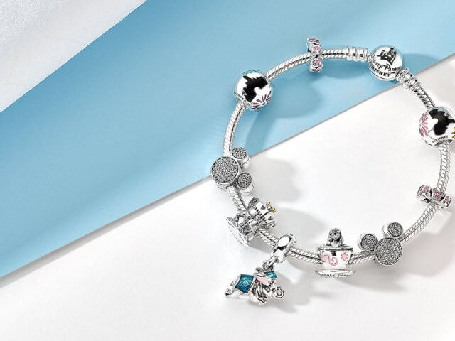 Charms e berloques da Disney para pulseiras Pandora