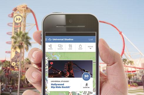 Aplicativo da Universal Orlando