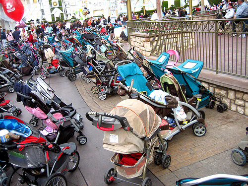 10 dicas para ir à Disney e Orlando com crianças: carrinhos de bebê