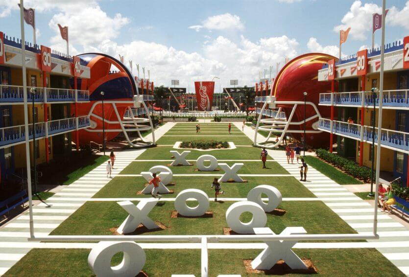 Hotel Disney All Star Sports em Orlando: futebol americano