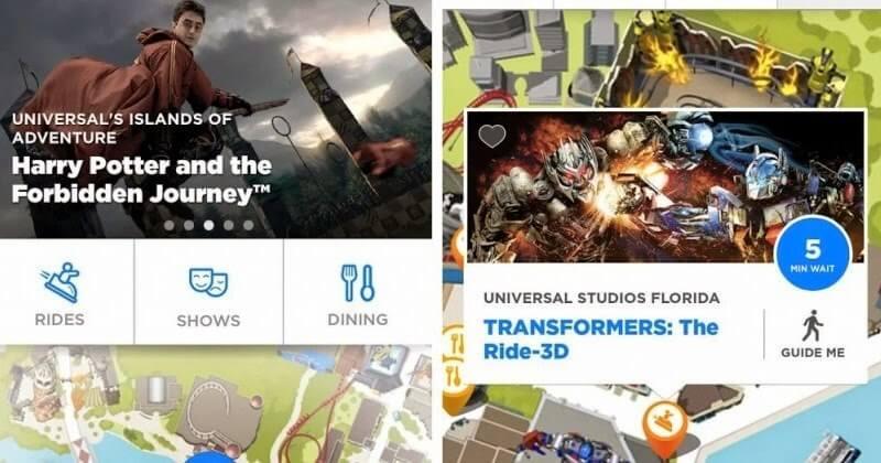 Aplicativo da Universal Orlando para os parques: funções do aplicativo