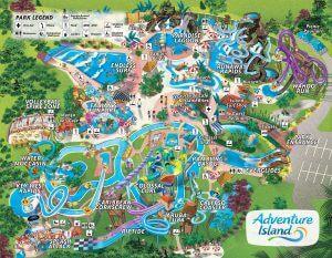 Parque Adventure Island Tampa Orlando: mapa do parque