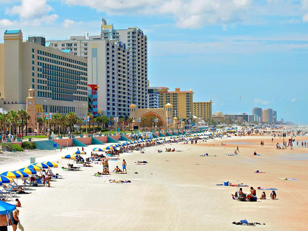 Pontos turísticos em Daytona Beach: praia