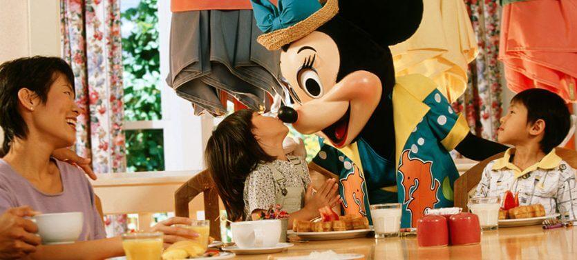 Cape May Cafe em Orlando: personagens Disney