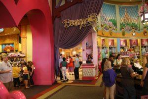 Melhores lojas para compras no Disney Springs em Orlando: loja Bibbidi Bobbidi Boutique