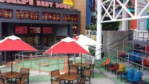 Os melhores restaurantes da Universal CityWalk em Orlando: restaurante Hot Dog Hall of Fame