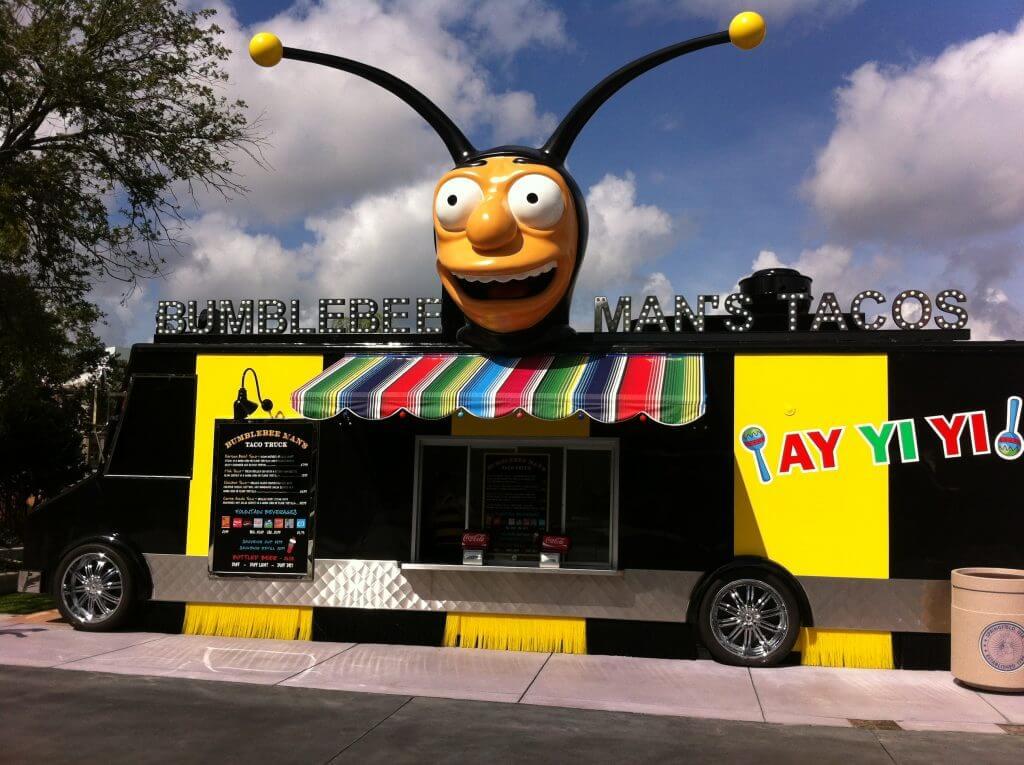 Restaurantes do parque Universal Studios em Orlando: Bumblee's Man Taco Truck