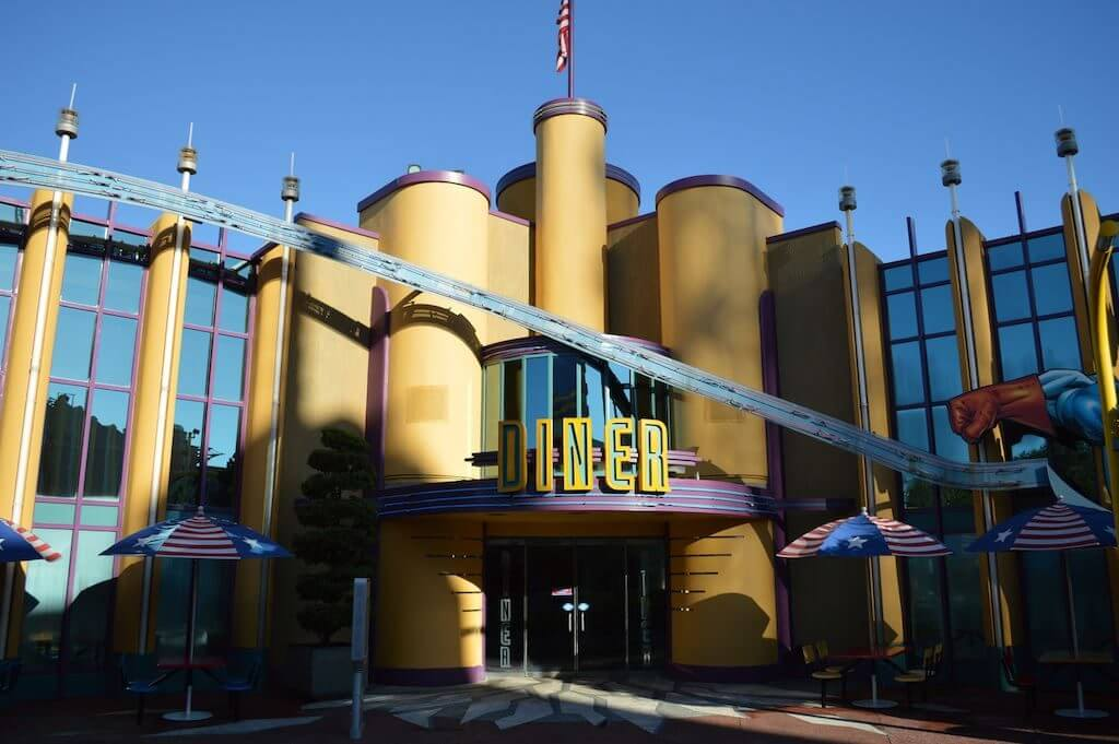 Restaurantes do parque Islands of Adventure em Orlando: restaurante Captain America Diner