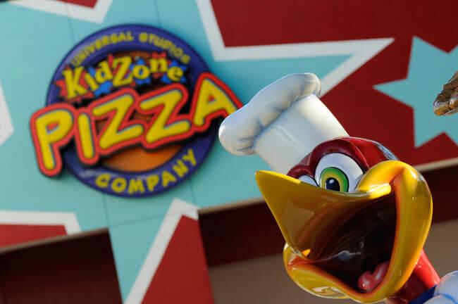 Restaurantes do parque Universal Studios em Orlando: restaurante KidZone Pizza Company