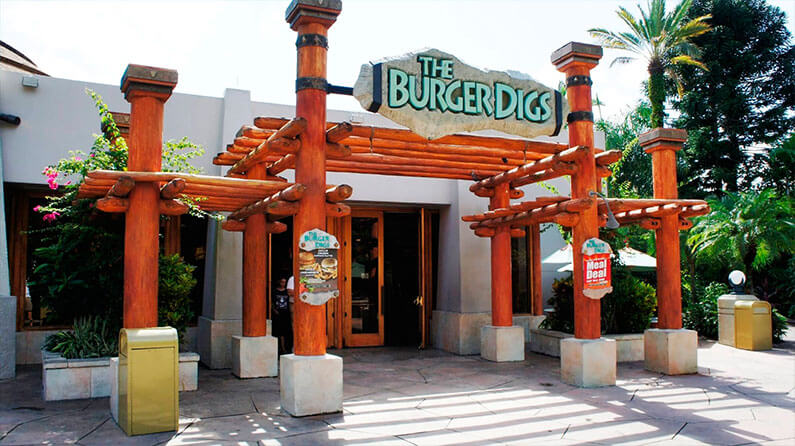 Restaurantes do parque Islands of Adventure em Orlando: restaurante The Burger Digs