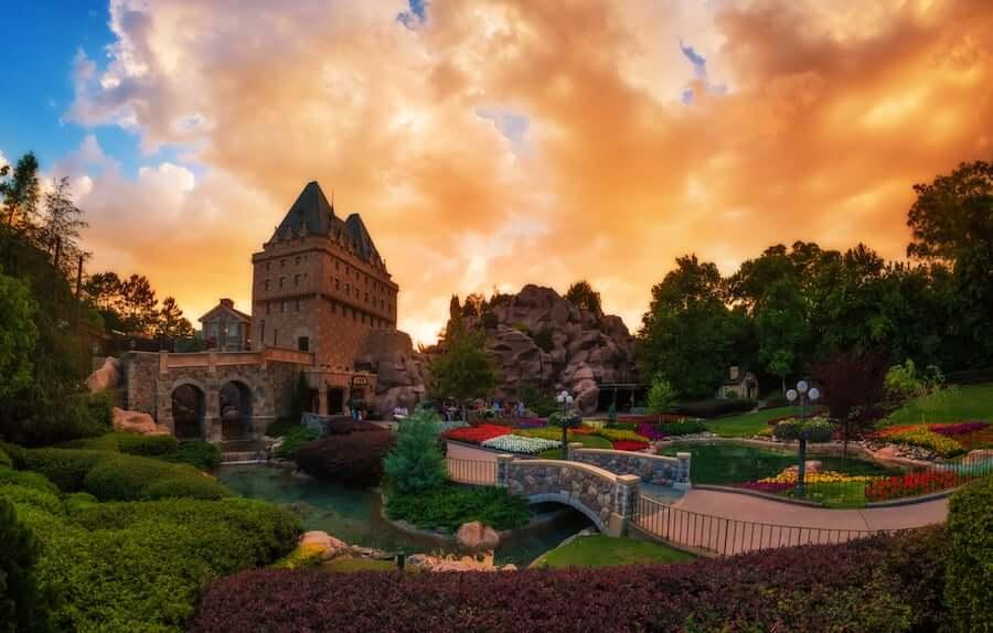 Pavilhão do Canadá no parque Epcot da Disney Orlando