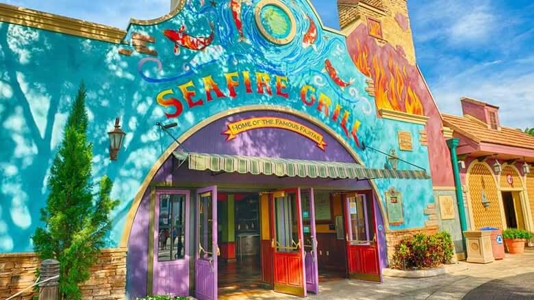 Parque SeaWorld em Orlando: Seafire Grill