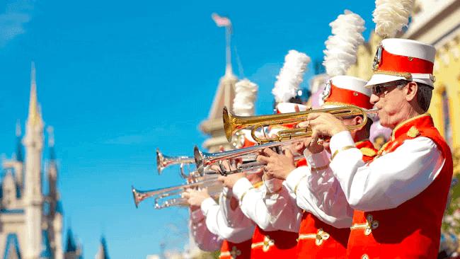 Shows, paradas e apresentações no parque Disney Magic Kingdom Orlando: Main Street Philharmonic