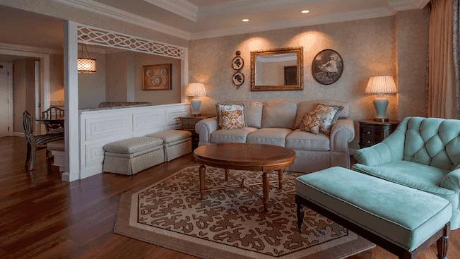 The Villas at Disney's Grand Floridian Resort & Spa: sala de estar