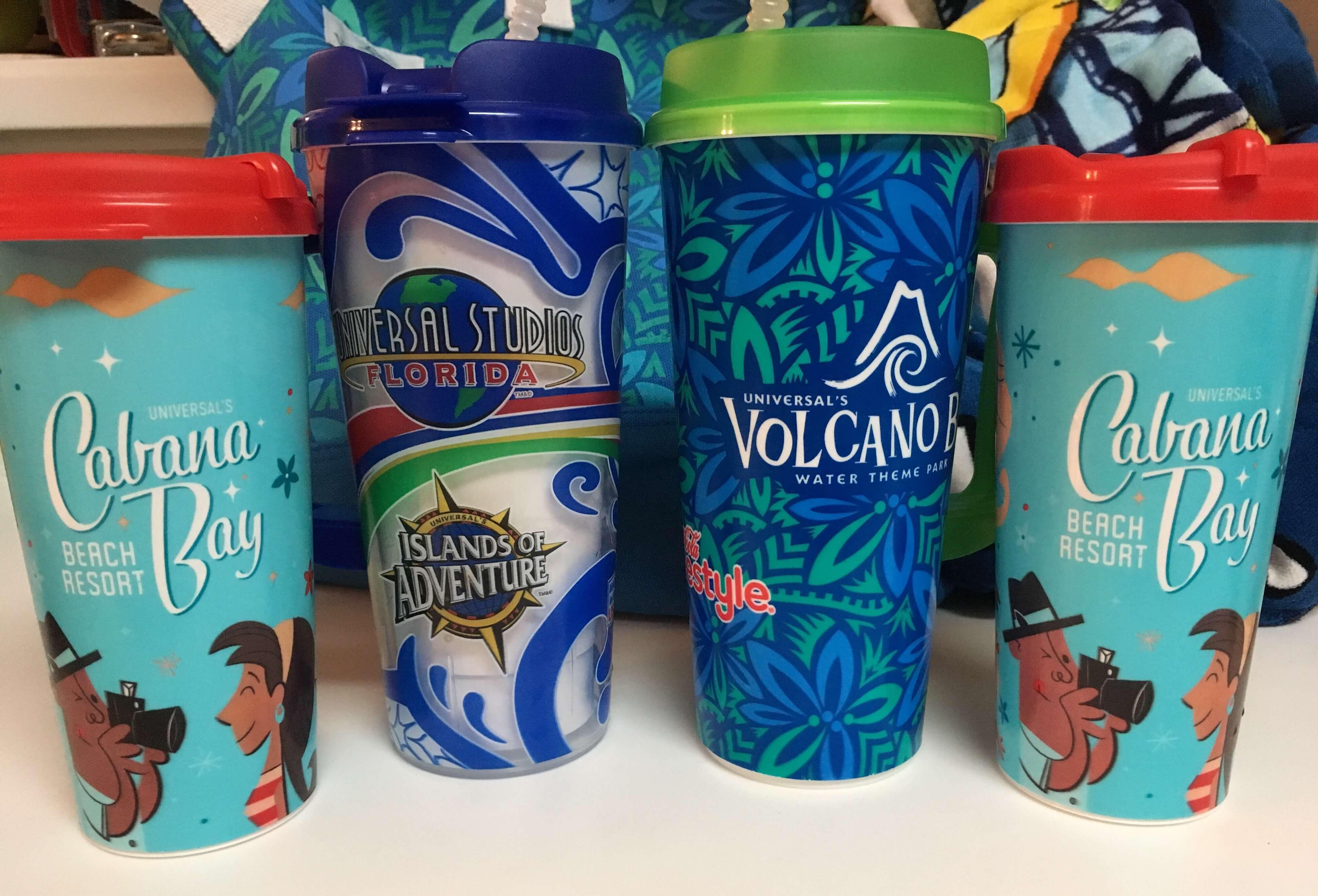 Parque Islands of Adventure Orlando: copo com refil de bebidas