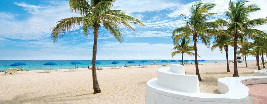 Pontos turísticos em Fort Lauderdale: praia Fort Lauderdale Beach