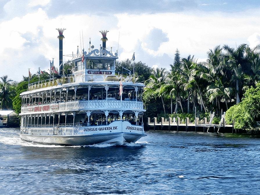 O que fazer em Fort Lauderdale: passeio de barco no Jungle Queen Riverboat