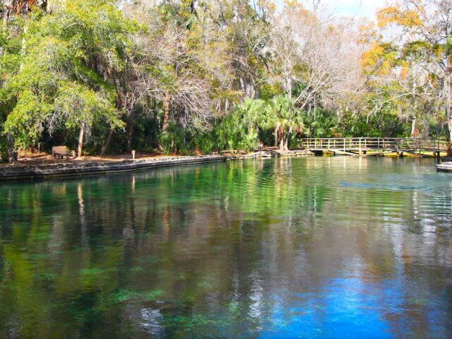 Passeio por Rock Springs Run em Kelly Park perto de Orlando