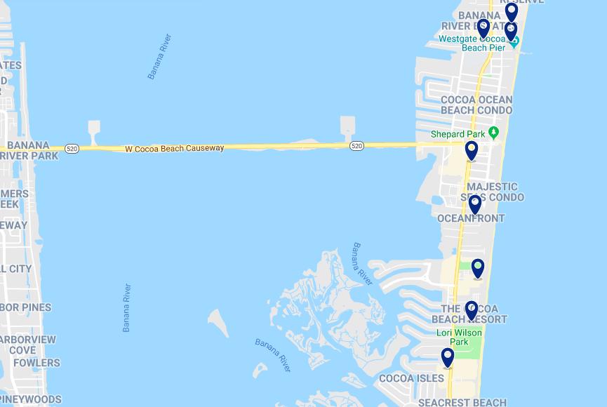 Onde ficar em Cocoa Beach: melhores hotéis