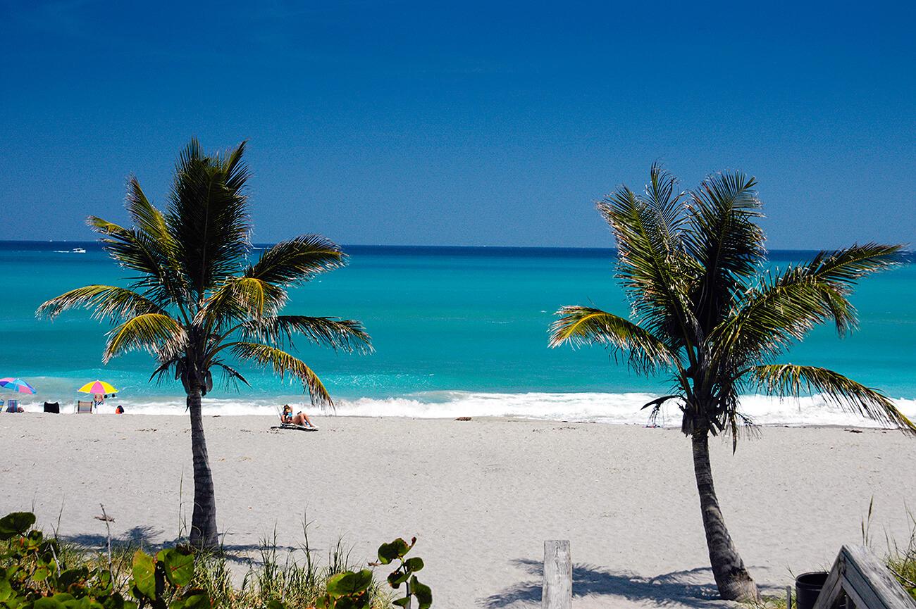 Praias em Palm Beach: praia Jupiter Beach