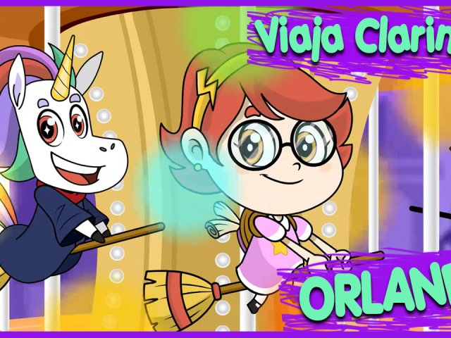 Série infantil Viaja Clarinha! O 1º episódio é em Orlando