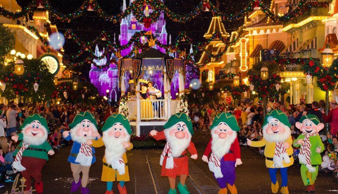 Natal na Disney Orlando em 2019: Os Sete Anões na Mickey's Very Merry Christmas Party
