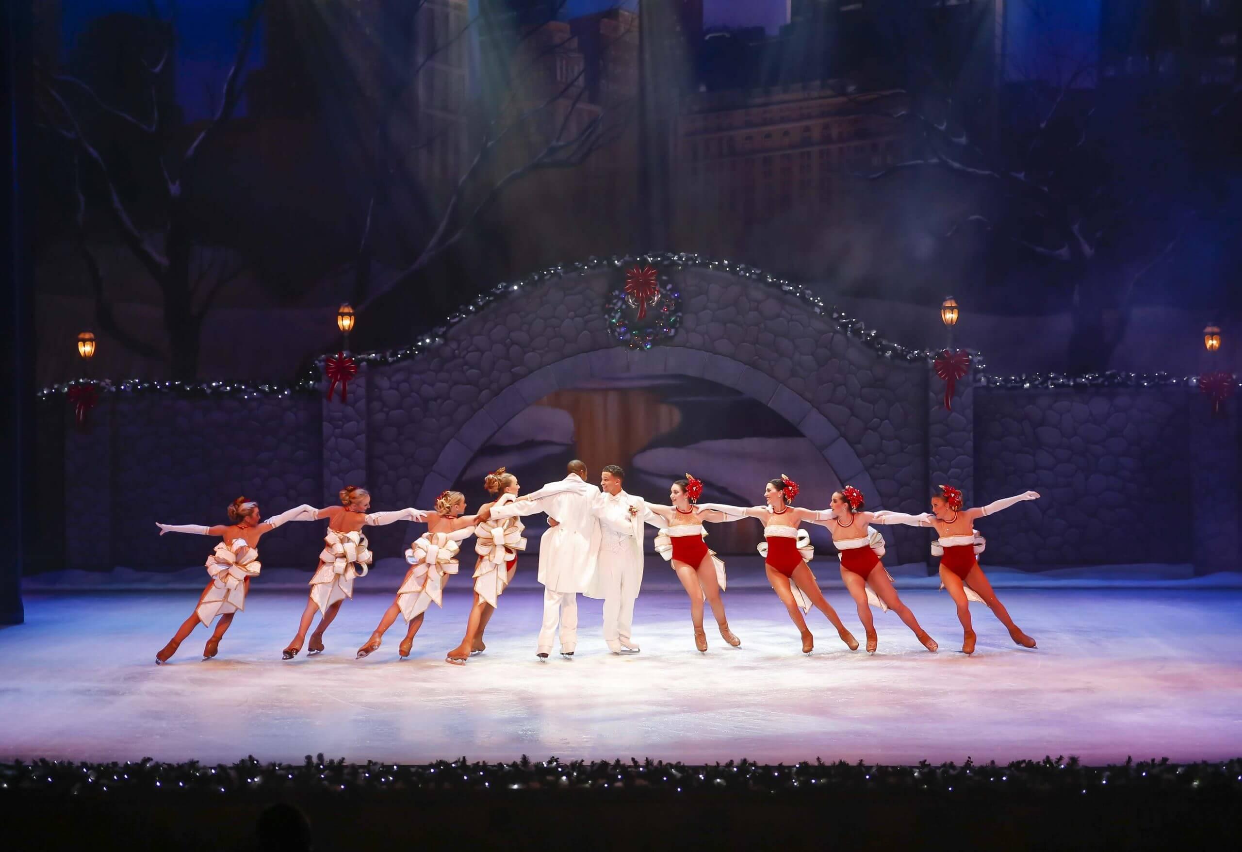 Christmas Town no parque Busch Gardens: Christmas On Ice