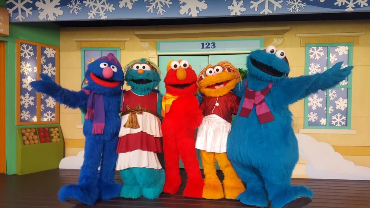 Christmas Town no parque Busch Gardens: Elmo's Christmas Wish