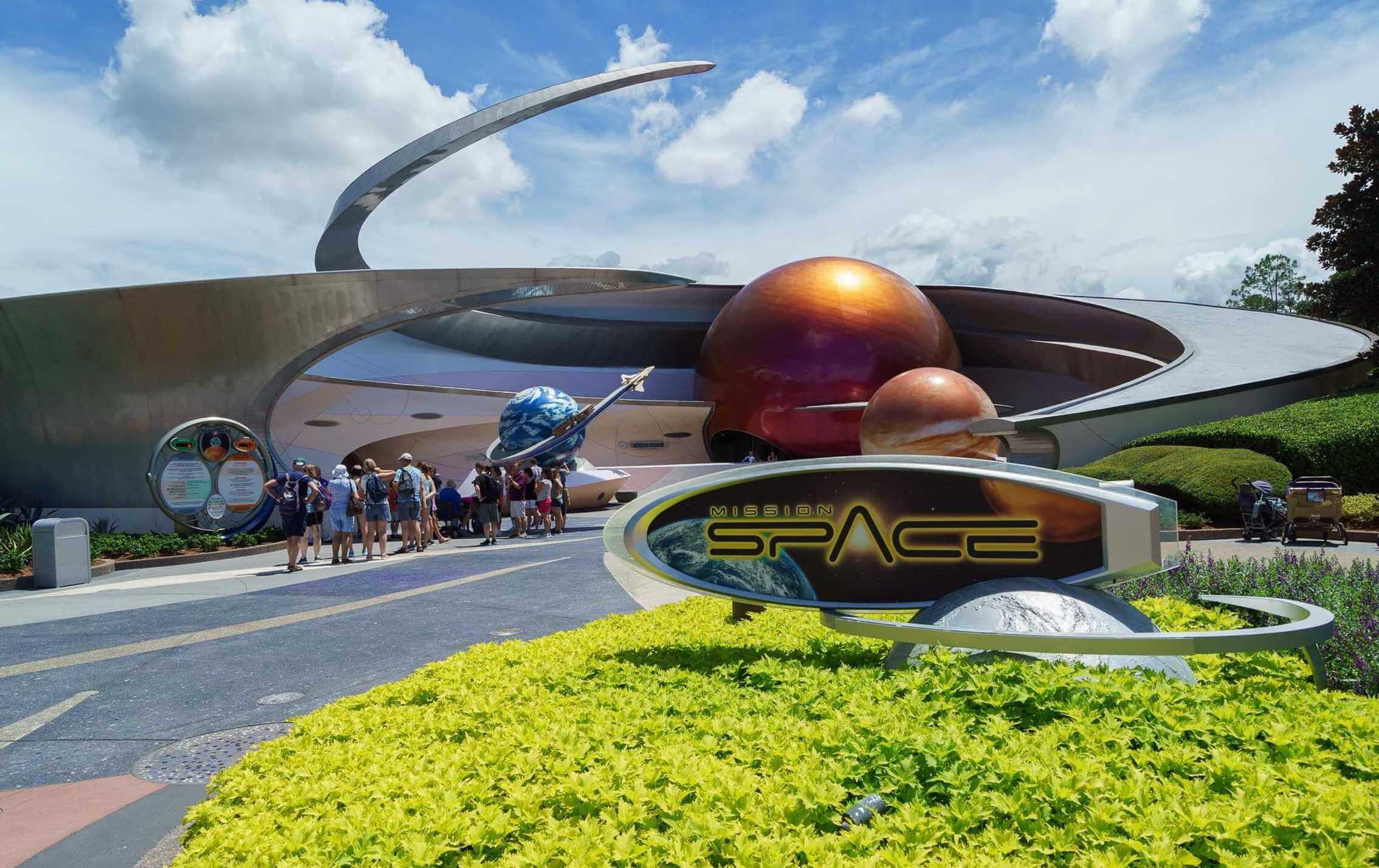 Space Restaurant no Epcot da Disney Orlando: atração Mission: SPACE
