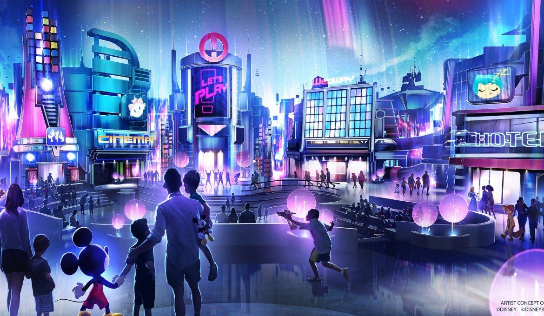 Novo pavilhão de jogos no Epcot da Disney Orlando: cidade futurista