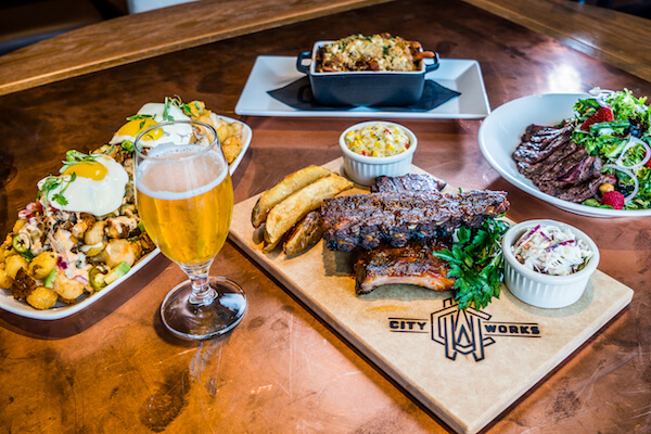 Restaurante City Works Eatery & Pour House em Disney Springs Orlando: refeição