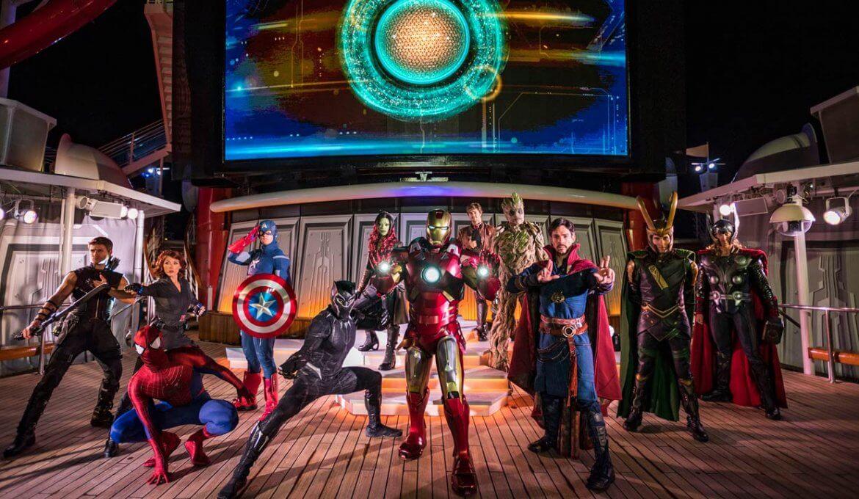 Cruzeiro Marvel Day at Sea da Disney Cruise Line em 2021