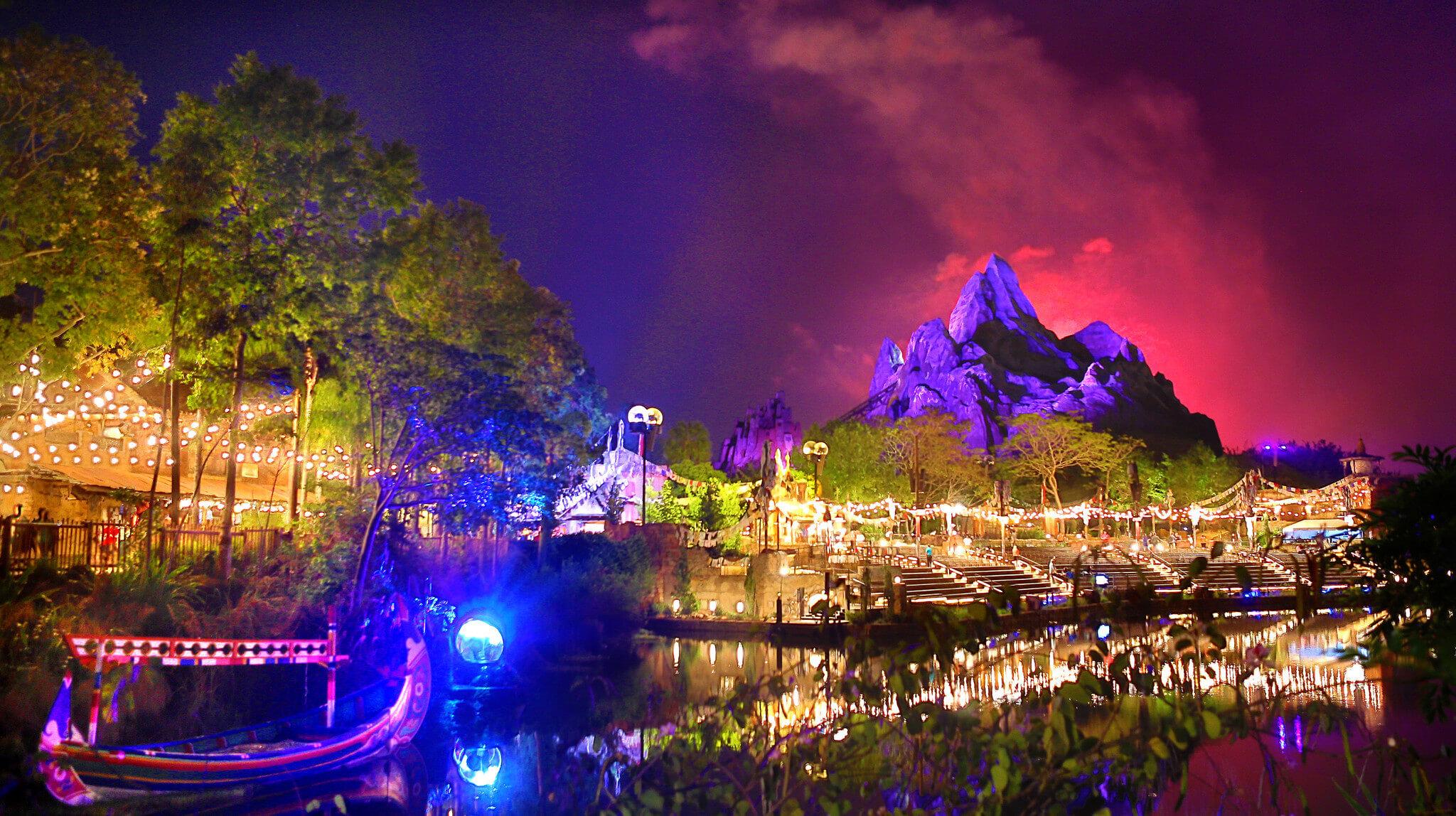 Noite no parque Animal Kingdom da Disney Orlando