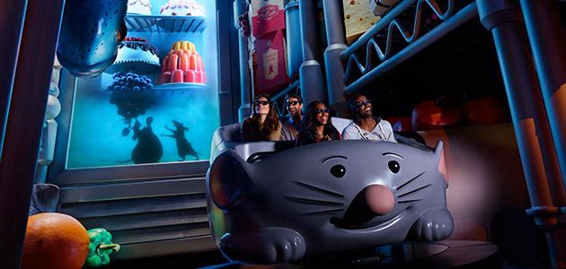 Atração de Ratatouille no Epcot da Disney Orando: Remy's Ratatouille Adventure