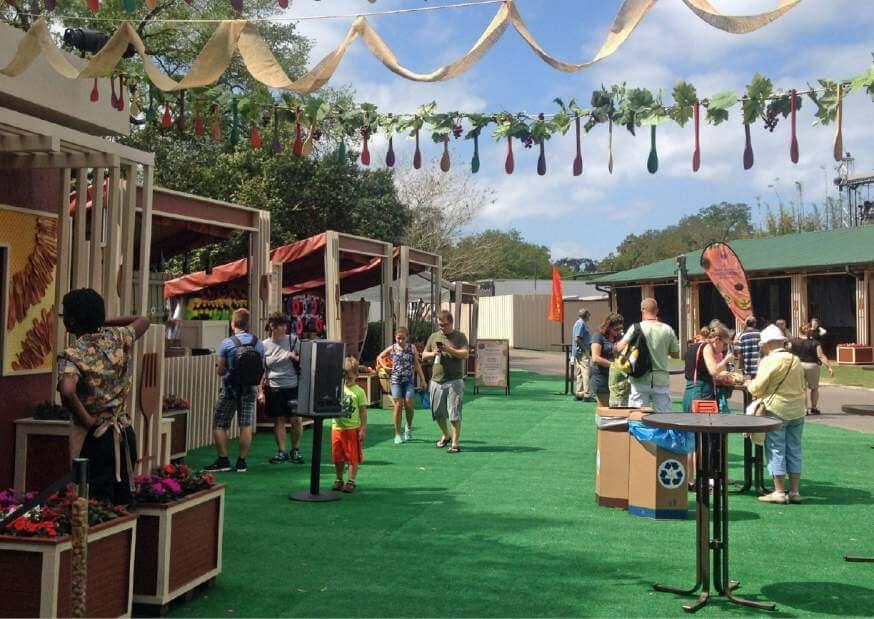 Food & Wine Festival no Busch Gardens em 2019: cabines