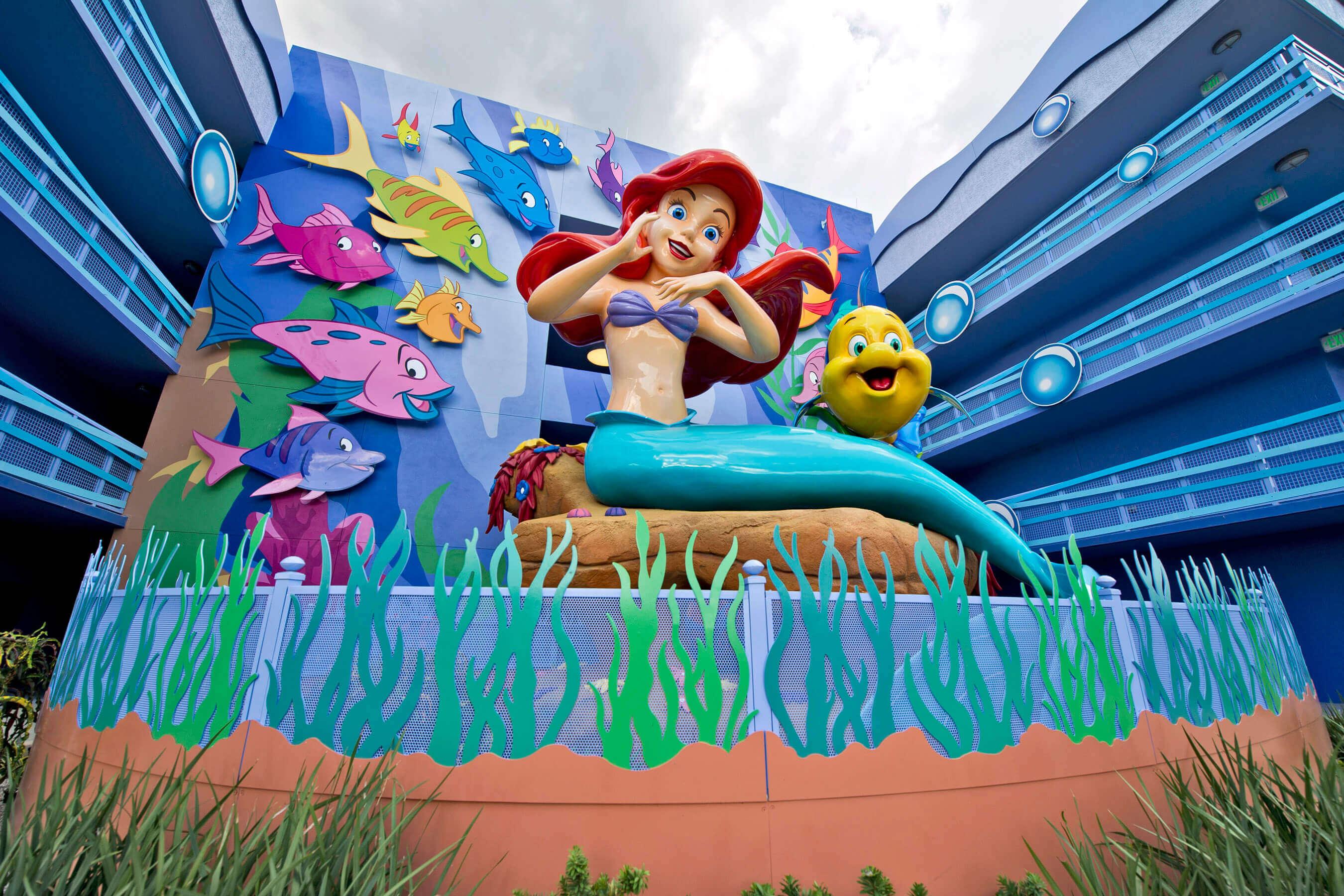 Aprenda a nadar como uma sereia na Disney Orlando: Disney's Art of Animation Resort